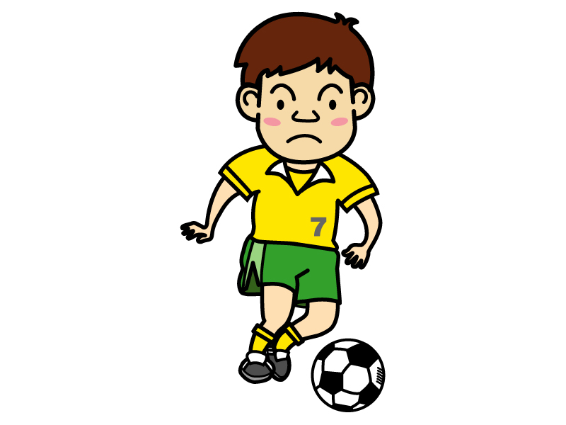 サッカー少年のイラスト02