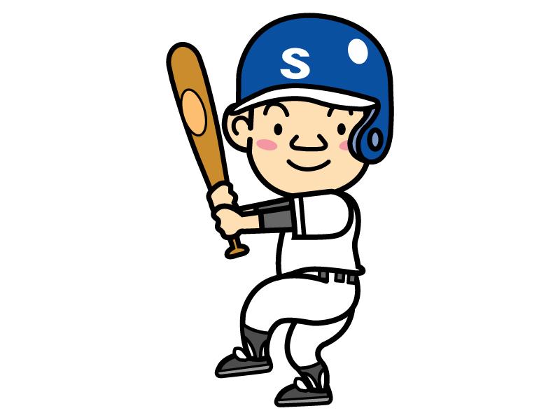 野球・バッターのイラスト