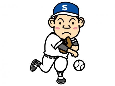 野球・ピッチャーのイラスト