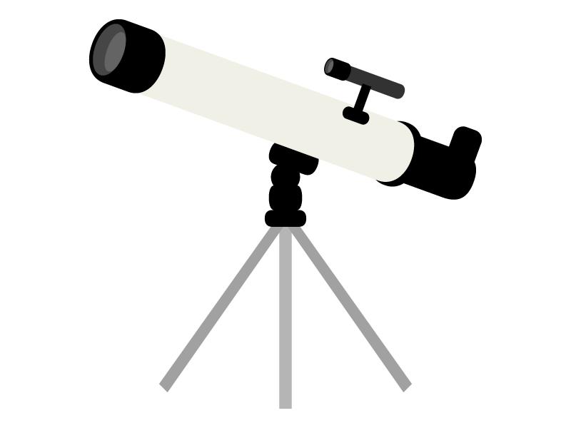 天体望遠鏡のイラスト