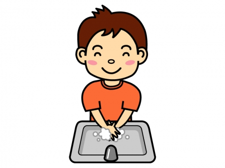 風邪予防・手洗いのイラスト