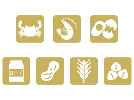 アレルギー食品マーク(特定原材料7品目)のイラスト02
