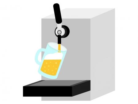 生ビールのサーバーのイラスト
