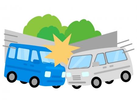 自動車の出会い頭事故のイラスト
