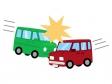 自動車の接触事故のイラスト