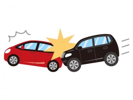 自動車の追突事故のイラスト