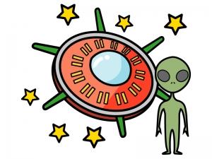 Ufoと宇宙人のイラスト イラスト無料かわいいテンプレート