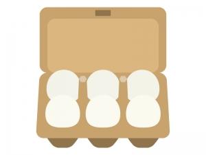 茶色いパックに入った卵のイラスト