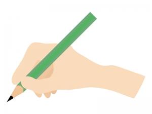 鉛筆を持つ手・持ち方のイラスト