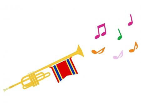 音符とトランペットのイラスト02