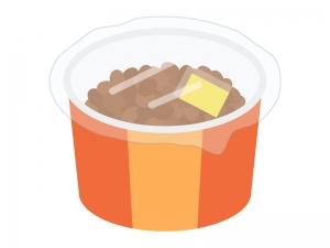 小分けのカップに入った納豆のイラスト