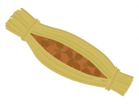 藁納豆のイラスト
