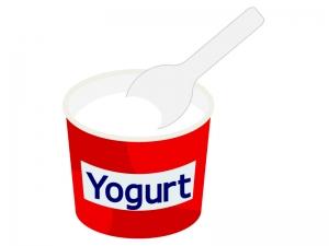 カップのヨーグルトのイラスト