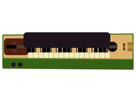 和楽器・大正琴のイラスト