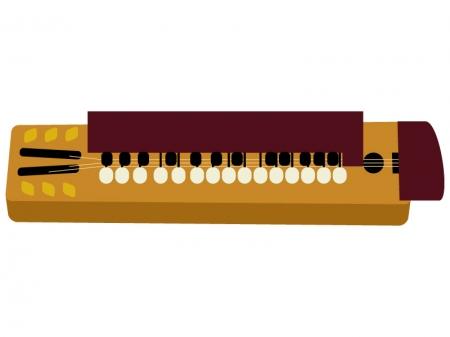 和楽器・大正琴のイラスト03