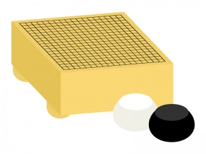 囲碁(囲碁盤)のイラスト