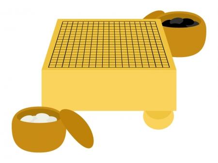 囲碁(囲碁盤)のイラスト02
