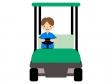 ゴルフカートを運転するイラスト