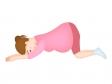 妊婦さんの逆子体操のイラスト