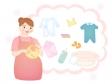 プレママの出産準備のイラスト