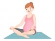 妊婦さんのヨガ・体操のイラスト