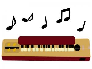 音符と大正琴のイラスト