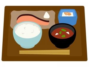 モーニング・和定食のイラスト