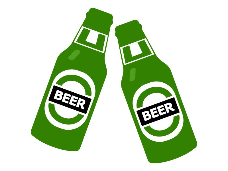 瓶ビールのイラスト
