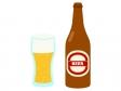 瓶ビールとグラスビールのイラスト