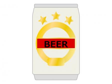 缶ビールのイラスト