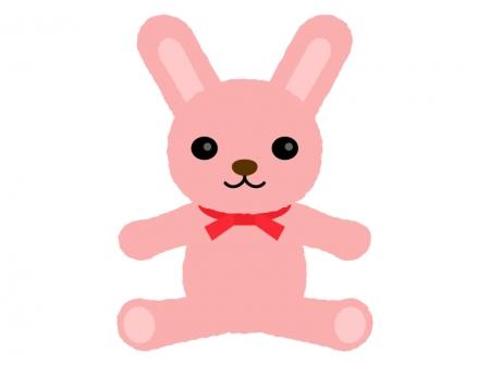 ウサギのぬいぐるみのイラスト