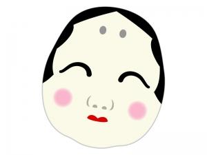 おかめ・お多福のイラスト04