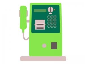 公衆電話のイラスト