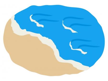 海・波のイラスト