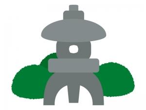 石の灯篭のイラスト