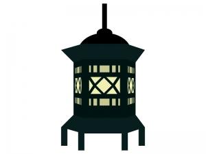 灯篭と灯りのイラスト02