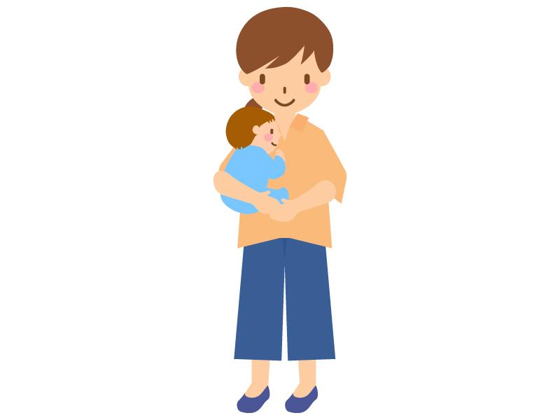 赤ちゃんを抱っこするママのイラスト02