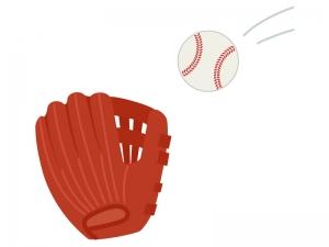野球・グローブとボールのイラスト02