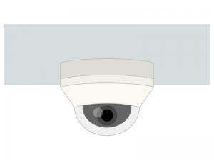 ドーム型の防犯カメラのイラスト