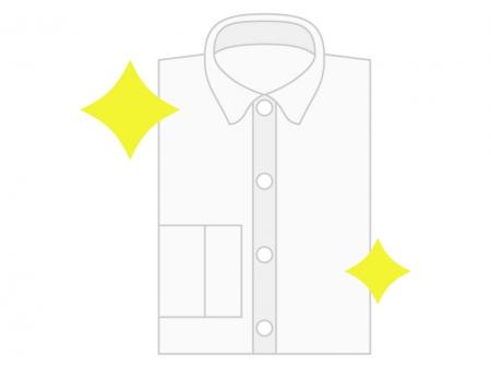 クリーニングしてピカピカのシャツのイラスト