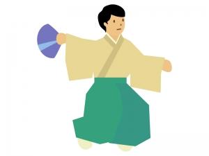 能楽・日本舞踊のイラスト