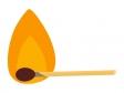 燃えるマッチ棒のイラスト