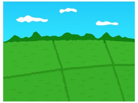 田園の風景のイラスト02