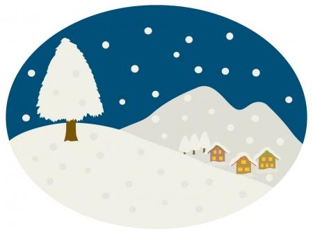 冬の景色のイラスト