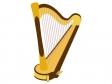 楽器・ハープのイラスト02