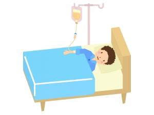 入院・点滴のイラスト