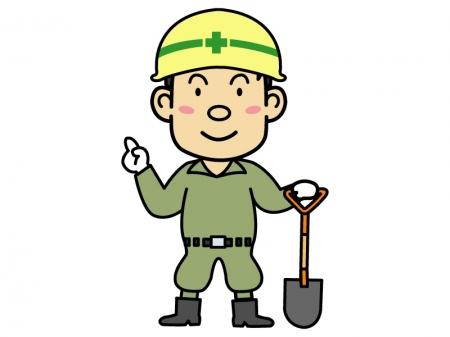 工事・土木作業員のイラスト