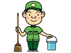 掃除作業員のイラスト