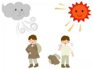 北風と太陽のイラスト02
