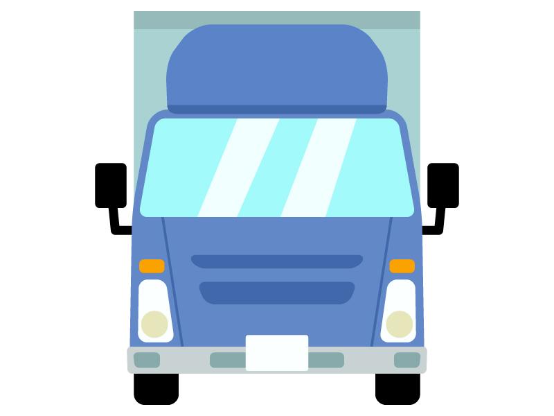 トラック(正面)のイラスト